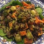 Loaded Lentil salad